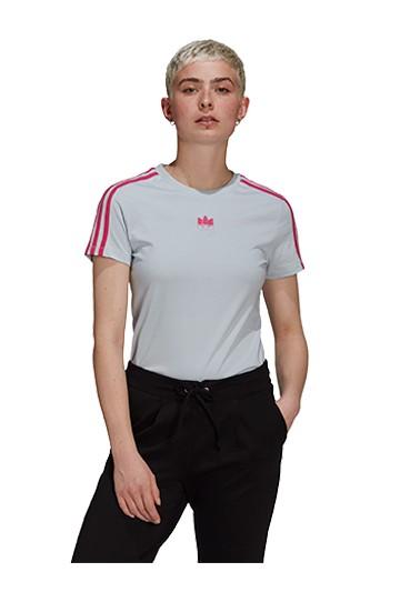 Camiseta adidas ADICOLOR TREFOIL 3D SLIM azul