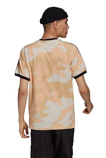 Camiseta adidas CAMO 3 BANDAS marrón