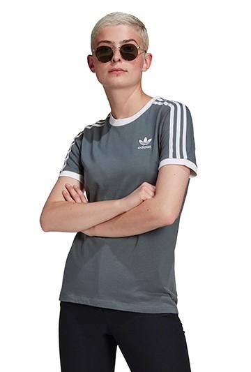 Camiseta adidas ADICOLOR CLASSICS 3 BANDAS gris