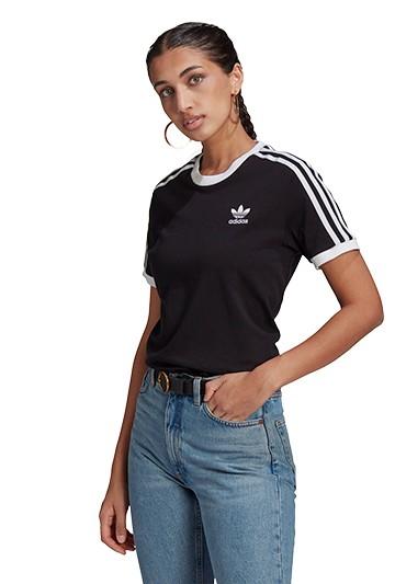 Camiseta adidas 3 STRIPES negra