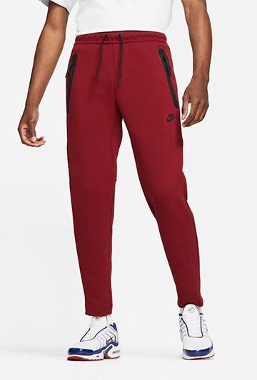 Pantalón Nike Sportswear Tech Fleece Rojo