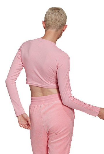 Camiseta adidas DE MANGA LARGA CROP Rosa