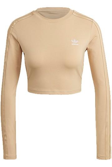 Camiseta adidas MANGA LARGA CROP beige