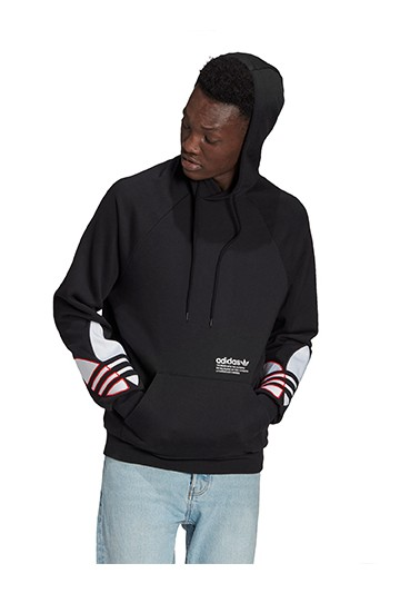 Sudadera adidas con capucha Adidolor Tricolor Trefoil negra