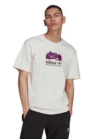 Camiseta adidas LOGOADVENTURE LOGO blanca