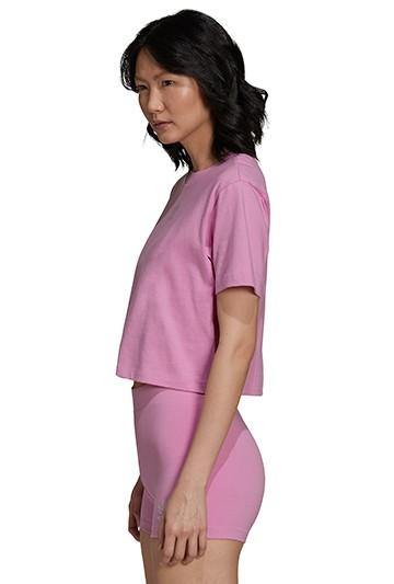 Camiseta adidas 2000 LUXE CROPPED Rosa