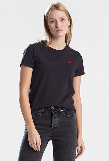 Camiseta Levi's CAMISETA CHICA Negra