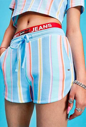 Pantalón Tommy Hilfiger TJWSTRIPE SWEAT Multicolor