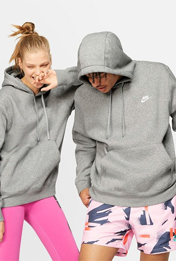 Sudadera Nike Sportswear Club Fleece gris
