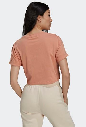 Camiseta adidas ADICOLOR ESSENTIALS CROPPED Rosa