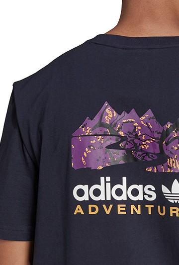Camiseta adidas ADVENTURE FILLED MOUNTAIN azul