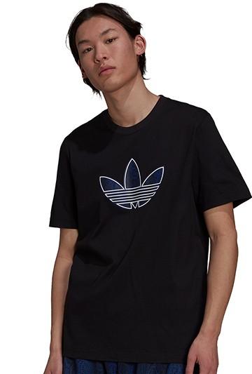 Camiseta adidas TREFOIL SNAKESKIN-PRINT Negra