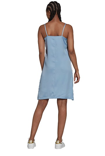 Vestido adidas ADICOLOR CLASSICS SATIN azul