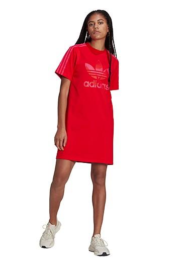 Vestido adidas MARIMEKKO TREFOIL PRINT INFILL Rojo