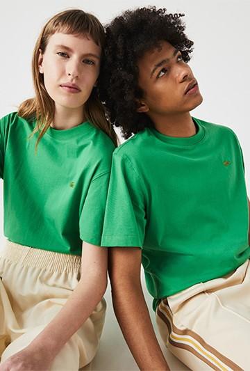 Camiseta Lacoste LIVE de algodón verde