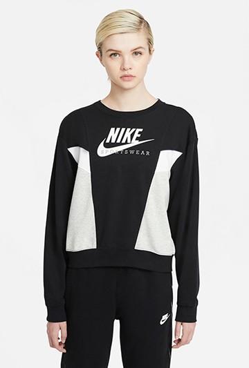 Sudadera Nike Sportswear Heritage negra