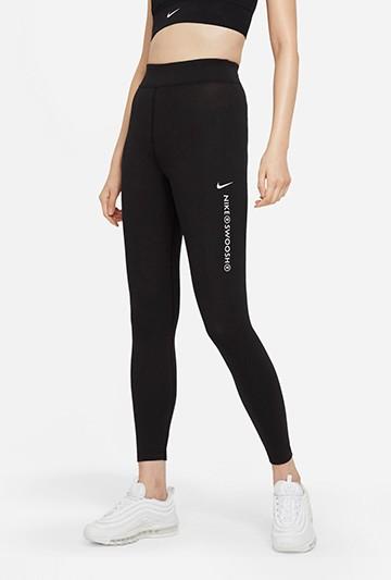 Mallas Nike Sportswear Swoosh Negras