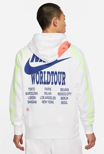 Sudadera Nike Sportswear World Tour blanca