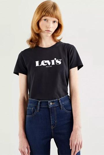Camiseta Levi's THE PERFECT TEE NEW LOGO II negra