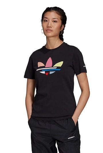 Camiseta adidas ADICOLOR SHATTERED TREFOIL negra