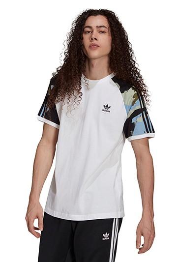 Camiseta adidas GRAPHICS CAMUFLAJE CALI blanca