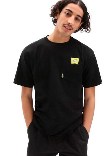 Camiseta Vans X Bob Esponja Imaginaaation Negra