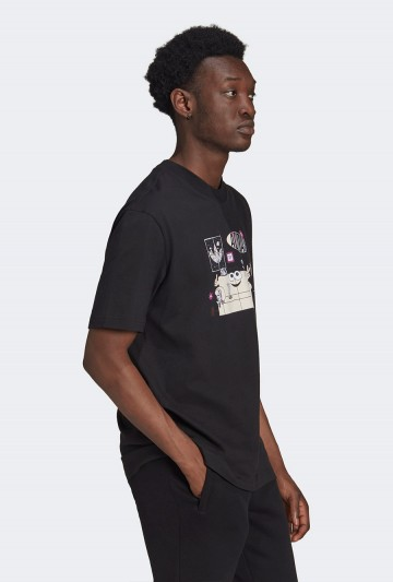 Camiseta adidas TREFOIL A33 GRAPHIC Negra