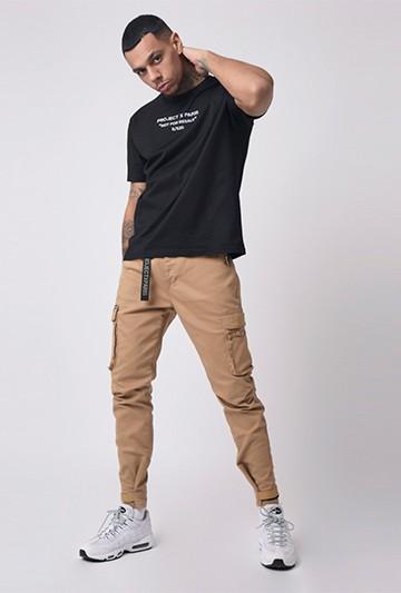 pantalones Project X Paris Jean Cargo poches Marrones