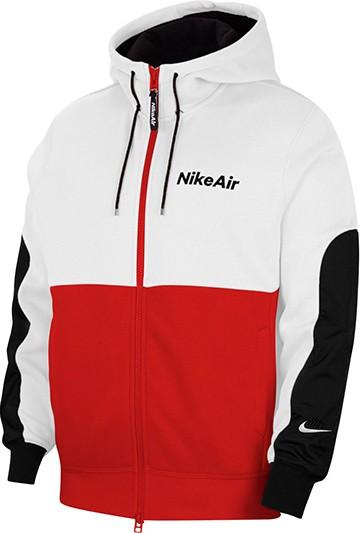 Sudadera Nike Air Men's Full-Zip Fleece Hoodie roja