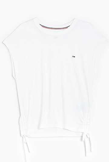 Camiseta Tommy Hilfiger CON LAZOS EN LATERALES blanca