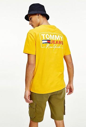 Sudadera Tommy Hilfiger SUAVE DE ALGODÓN ORGÁNICO CON LOGO amarilla