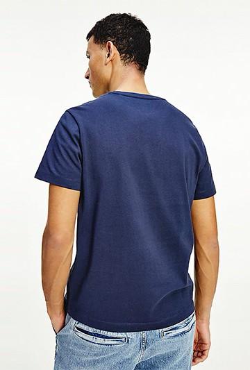 Camiseta Tommy Hilfiger DE PUNTO CON PARCHE DE TOMMY azul