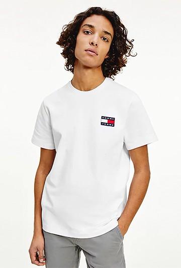 Camiseta Tommy Hilfiger DE PUNTO CON PARCHE DE TOMMY blanca
