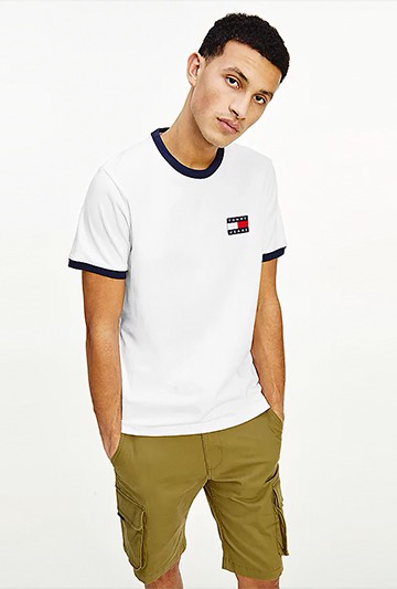 Camiseta Tommy Hilfiger DE ALGODÓN CON PARCHE DE TOMMY blanca
