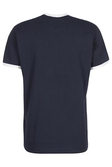 Camiseta Tommy Hilfiger DE ALGODÓN CON PARCHE DE TOMMY azul