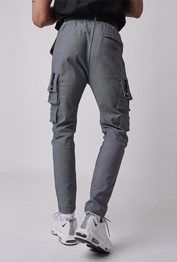 Pantalón Project X Paris poches avec ceinture gris