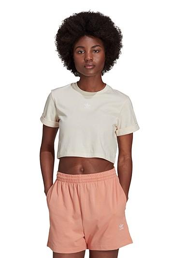 Camiseta adidas ADICOLOR ESSENTIALS CROPPED blanca