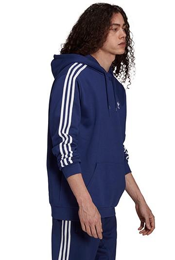 Sudadera adidas 3 BANDAS HOODY azul