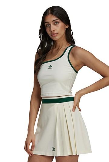 Camiseta adidas ASYMMETRIC TOP blanca