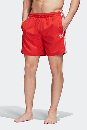 Bañador adidas 3 STRIPE SWIMS rojo