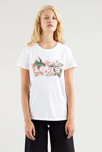 Camiseta Levi's The Perfect Tee Batwing Fill blanca