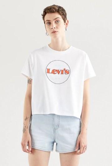 Camiseta Levi's VARSITY GRAPHIC TEE Blancas