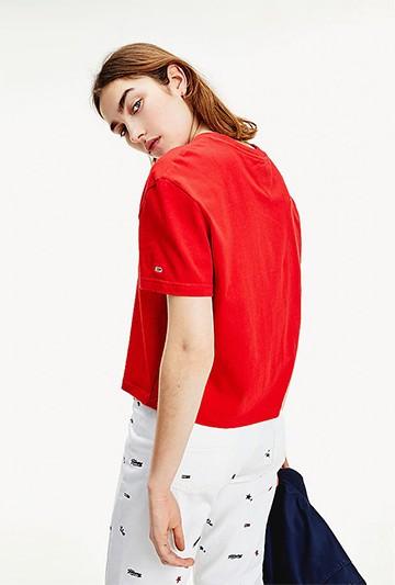 Camiseta Tommy Hilfiger STAR AMERICANA roja