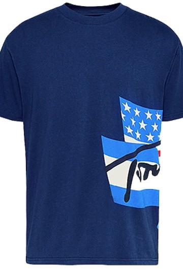 Camiseta Tommy Hilfiger TJM HERITAGE FLAGS azul