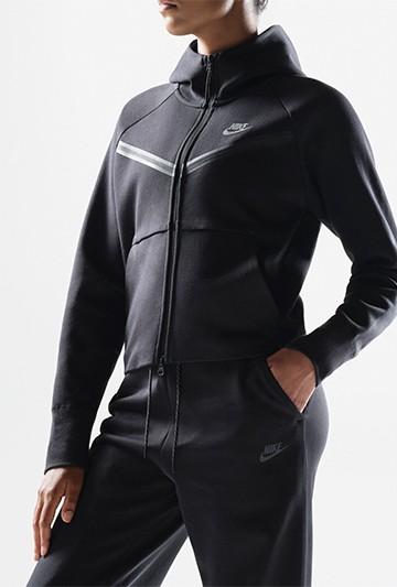 Chaqueta Nike Sportswear Tech Fleece Windrunner negra