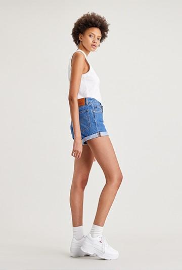 pantalones cortos Levi's 501 ROLLED SHORT SANSOME Azules