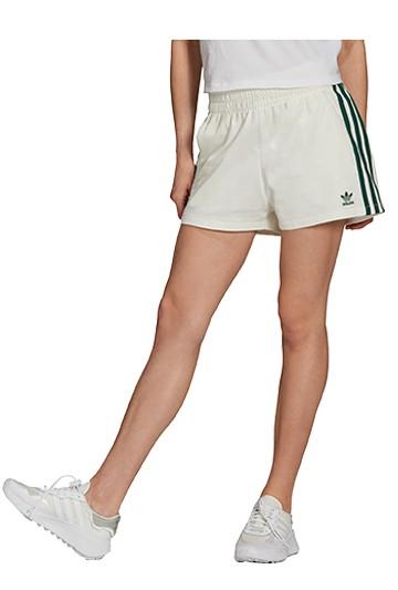 Pantalón adidas CORTO 3 BANDAS blanco