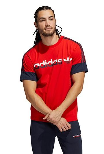 Camiseta adidas 3 STRIPE SPLIT roja