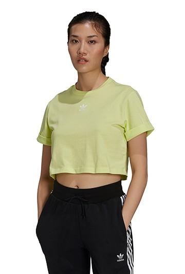 Camiseta adidas ADICOLOR ESSENTIALS CROPPED amarilla