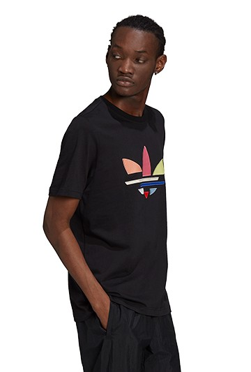 Camiseta adidas ADICOLOR TRIFOLIO SHATTERED negra